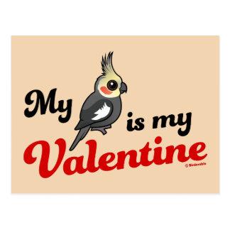 My Cockatiel Is My Valentine Postcard