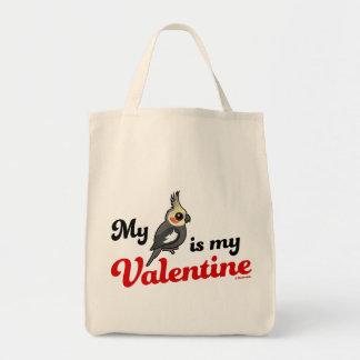 My Cockatiel Is My Valentine Tote Bag