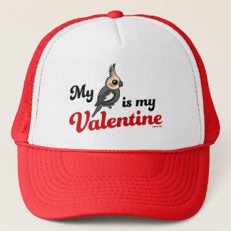 My Cockatiel Is My Valentine Trucker Hat