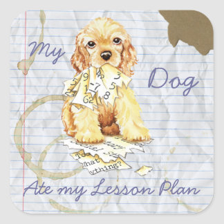 My Cocker Spaniel Ate My Lesson Plan Stickers