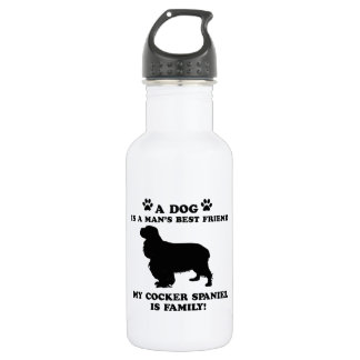 My cocker spaniel family, your dog just a best fri 532 ml water bottle