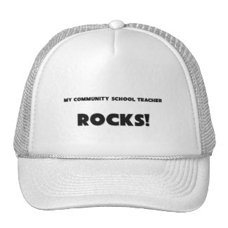 MY Community School Teacher ROCKS! Mesh Hat