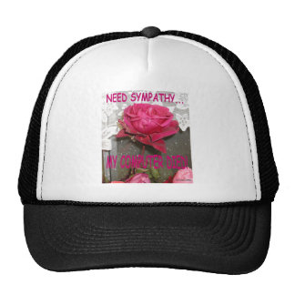 MY COMPUTER DIED AND I NEED SYMPATHY TRUCKER HATS