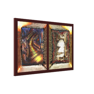 My Confession & Stairway of Light Stretched Canvas Prints