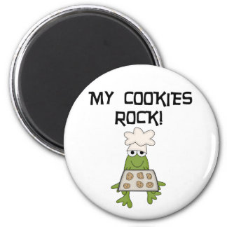 My Cookies Rock Tshirts and Gifts 6 Cm Round Magnet