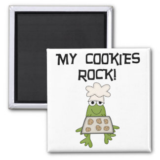 My Cookies Rock Tshirts and Gifts Fridge Magnet