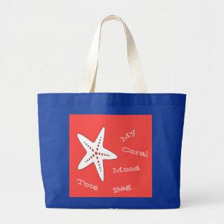 My Coral Mood Starfish Tote Bag