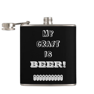 My Craft is Beer! Hip Flask