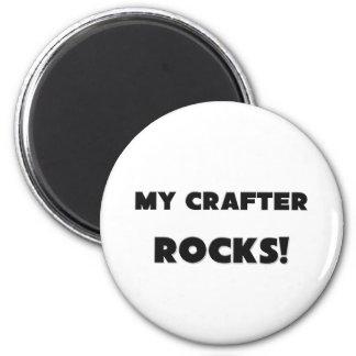MY Crafter ROCKS Refrigerator Magnets