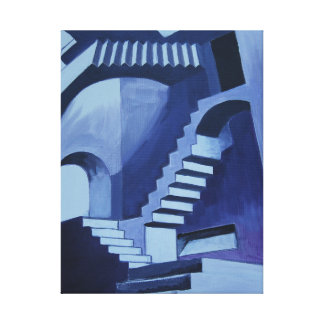 my crazy staircases canvas print