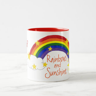 """My Cup Full of Rainbows and Sunshine"" - Mug"