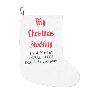 "My Custom Fleece Christmas Stocking 9""x16"" 2-S"