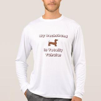 My Dachshund is Totally Tubular Long Sleeve Tee Shirts