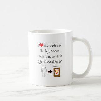 My Dachshund Loves Peanut Butter Mug