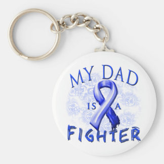 My Dad Is A Fighter Blue Key Ring