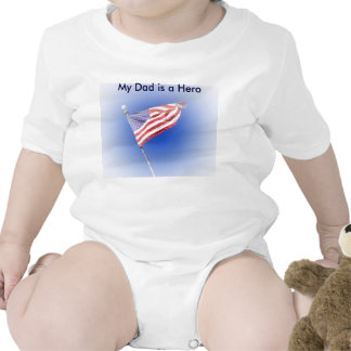 my dad is a hero Flag shirt