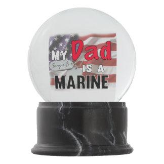 My Dad is a Marine Snow Globe