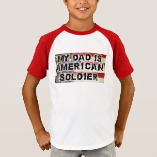 My Dad Is An American Soldier Kids Shirt