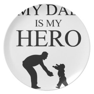 My Dad Is My Hero Party Plates