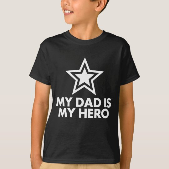 Usaprint Fathers Day Dad T Shirt My Dad My Hero Design T: My Dad Is My Hero T-Shirt