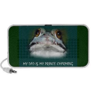 My Dad Is My Prince Charming Cute Frog in Pastel Mini Speaker