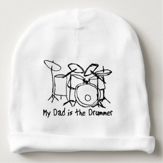My Dad is the Drummer Baby Beanie