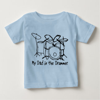 My Dad is the Drummer Baby T-Shirt