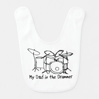My Dad is the Drummer Bib