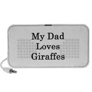 My Dad Loves Giraffes Laptop Speaker
