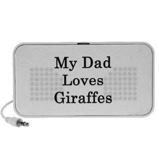 My Dad Loves Giraffes Laptop Speaker