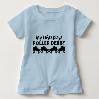 My Dad plays Roller Derby, Roller Skating Baby Bodysuit
