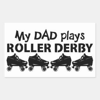 My Dad plays Roller Derby, Roller Skating Rectangular Sticker