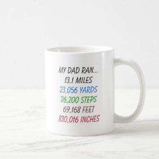 My Dad Ran 13.1 miles Mug