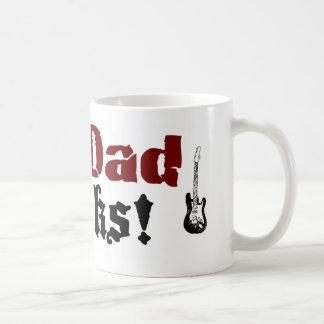 My Dad Rocks Basic White Mug