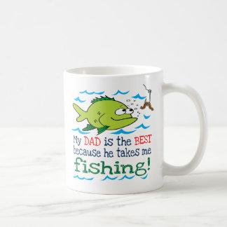 My Dad Takes Me Fishing Basic White Mug