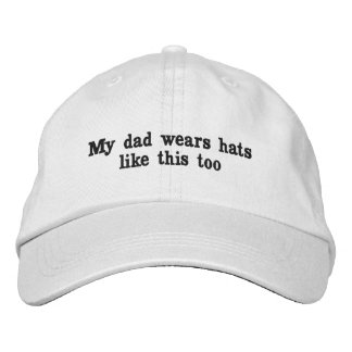 my dad wears hats like this too embroidered hats