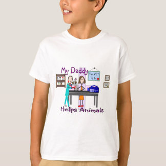 My Daddy Helps Animals--Veterinarian Kids Shirts