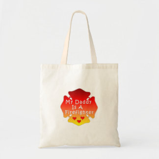 My Daddy Is A Firefighter Tote Bag