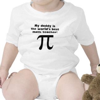My Daddy Is The Word s Best Math Teacher Baby Bodysuits