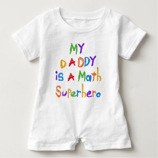 My Daddy Math Superhero Baby Romper