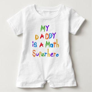 My Daddy Math Superhero Baby Romper Baby Bodysuit