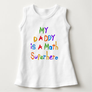 My Daddy Math Superhero Baby Sleeveless Dress