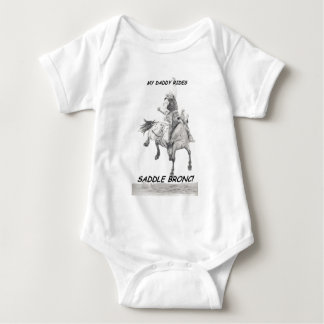 My Daddy Rides Saddle bronc Baby Bodysuit