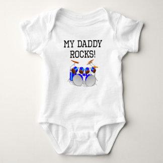 My Daddy Rocks Drums Tshirts