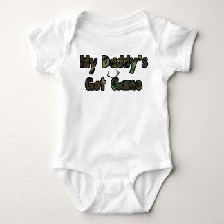 My daddy's got game baby hunting shirt