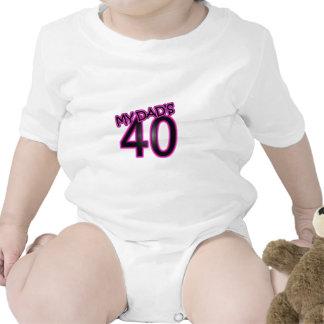 My Dad's 40 Baby Bodysuits