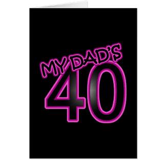My Dad's 40 Card