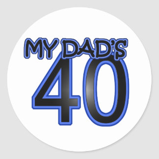 My Dad's 40 Stickers