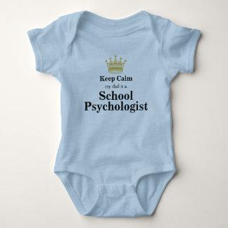 My Dad's A School Psychologist Baby Bodysuit