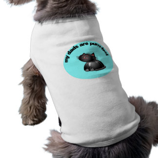My dads are purr-fect sleeveless dog shirt